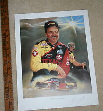 NASCAR JEANNE BARNES ERNIE IRVIN 'BEHING EVERY CLOUD' SIGNED COLOR POSTER