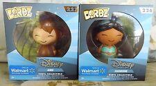 Dorbz Jasmine and Abu Walmart Exclusives by Funko 226 227 Aladdin Disney Movie