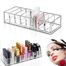 8 Slots Acrylic Compact Holder Powder Eye Blush Lipstick Case Storage Organiser