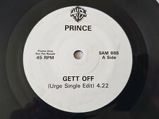 "PRINCE GETT OFF (URGE SINGLE EDIT) RARE UK 1 SIDED  PROMO 7"" vinyl SAM 888"