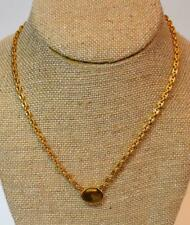 """New Old Stock ANNE KLEIN Goldtone Pendant on 16"""" Chain"""