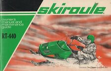 RARE VINTAGE COLEMEN  SKIROULE SNOWMOBILE RT-440 OWNERS MANUAL  (180)