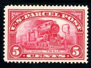 USAstamps Unused VF US 1913 Parcel Post Mail Train Scott Q5 OG MH