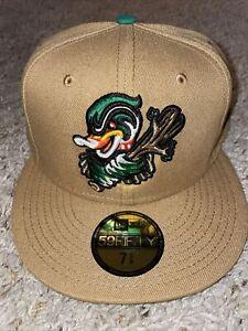 Down East Wood Ducks New Era Fitted Hat 7 158 59Fifty Minor League Baseball MLIB