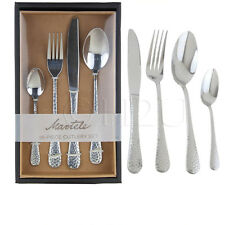 Martele Cutlery Set 16 Piece Knives Fork Spoon Teaspoon Tableware Utensils Steel