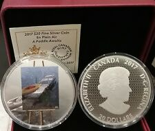 2017 En Plein Air A Paddle Awaits $20 1OZ Pure Silver Proof Colour Coin Canada