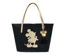 NWT Disney Store Mickey Mouse 90th Anniversary Golden Metallic Tote Bag Purse