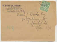 GB 1935 GV ½ D on very fine wrapper from LONDON E.C. to SPRINGFIELD, Mass. USA