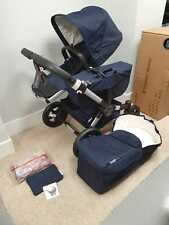 Bugaboo Donkey2 Navy Blue Classic Twin Black/Silver BRAND NEW