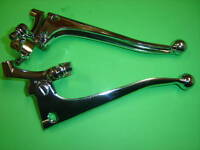 CLUTCH AND BRAKE CHROME LEVERS 7/8 TH BALL END NORTON VELOCETTE 1 1/16 PIVOT