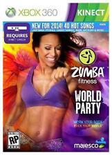 NEW Zumba Fitness World Party  (Xbox 360, 2013) NTSC