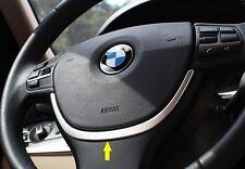 BMW 5 Series F10 523 528 530 2011 2012 13 i GT Chrome Steering Wheel Cover trim