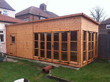wooden shed house extention conservatory etc