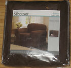 MAYTEX CANVAS CHAIR SLIPCOVER IN CHOCOLATE BROWN   NEW