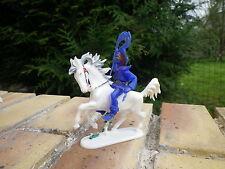 Vintage JEAN HOEFFLER W GERMANY CAVALIER COW BOY bleu cheval blanc très bon état