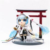"Hatsune Miku Snow Miku Crane Priestess 4"" PVC Action Figure Statue Model Toy New"