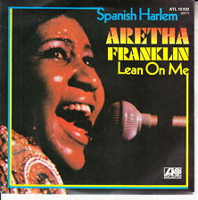 """ARETHA FRANKLIN  Spanish Harlem & Lean On Me PICTURE SLEEVE 7"""" 45 rpm record NEW"""