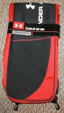 New! Under Armour Clean Up Bat Bag (Baseball; Duffle Bag; Fence Hooks) Black/Red
