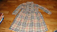 BURBERRY GIRLS 4 104 4T GORGEOUS PLAID DRESS W/ RUFFLES