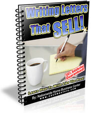 WRITING LETTERS THAT SELL! PDF EBOOK FREE SHIPPING RESALE RIGHTS