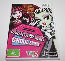 NINTENDO WII MONSTER HIGH GHOUL SPIRIT GAME COMPLETE AUS RELEASE RATED G