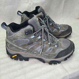 Merrell Moab 2 Mid Women's Waterproof Hiking Boots Sz 8.5 Granite Gray J06054