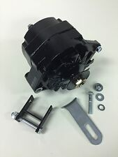 1928-1931 Ford Model A Black Painted Alternator. Bracket, Pulley 12 Volt Neg