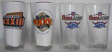 Coors Light, Miller Lite Super Bowl pint glasses, 4