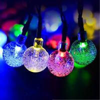 Xmas 30pcs LED Solar String Light Bubble Ball Shaped HOME Garden  Party Decor RF