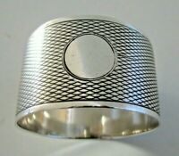 Sterling Silver Napkin Ring, Hallmarked Birmingham 1926