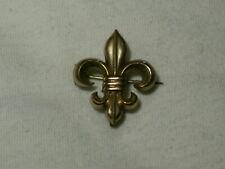 Lis Charm/Fob/Watch Holder Brooch. Victorian Gold Filled Fleur De