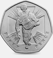 2006 50P COIN RARE HEROIC ACT MAN 60 YEARS SINCE END OF WW2 FIFTY PENCE b