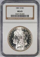 1881-S $1 Morgan Silver Dollar Coin NGC MS65 #2