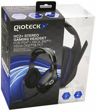 GIOTECK HC2+ Stereo Gaming Headset for Sony PS4 / Xbox One / PC Wired NEW