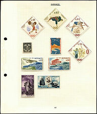 Monaco Album Page Of Stamps #V4562