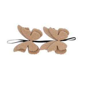 Cute Baby Headband w/Two Fur Butterflies Toddler Little Childs Headbands