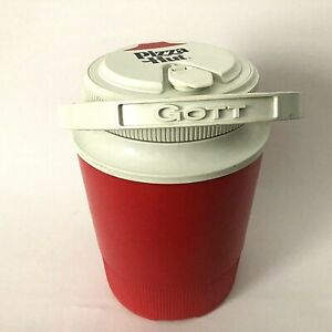Vintage Pizza Hut Logo 1/2 Gallon Thermos Water Cooler Jug by Gott 1502