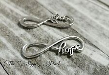 Infinity Connectors Links Charms Pendants Word Charms HOPE Antiqued Silver 10pc