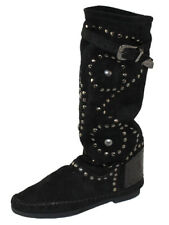 Piampiani Schuhe Mokassins Stiefel Boot Leder Made in Italy Gr.39 INDI1 Schwarz