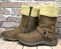 Womens Clarks Wave Walk Brown Leather Zip Up Low Heel Ankle Boots UK 4 D EUR 37