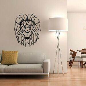 Lion Head Metal Wall Art Decoration Hanging Minimalist Art Gift 71 x 87cm