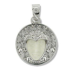 Offerings Sajen Handcrafted 925 Sterling Silver Swils Pendant with Goddess