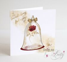 BEAUTY AND THE BEAST Valentines Card - LOVE WILL ALWAYS FIND A WAY