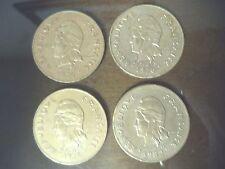 POLYNESIE FRANCAISE 100 FRANCS ~ 4 COINS