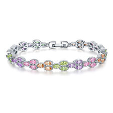 Vintage Multi Color Jewelry Handchain Morganite Topaz Gemstone Women Bracelets
