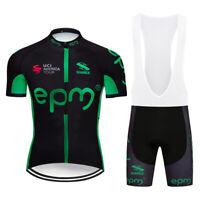 2019 Men Cycling Jersey Brace Shorts Set Short Sleeve Road Bike Shirt Bib Shorts