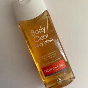 NEW Neutrogena Body Clear Body Wash Salicylic Acid Acne Treatment 8.5 Fl Oz.