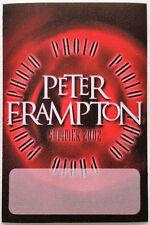 * PETER FRAMPTON * -  PHOTO - SATIN BACKSTAGE PASS - SUMMER 2002 TOUR - PERFECT