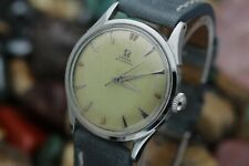 C. 1950 Omega Bumper Automatic Cal. 351 Stainless Steel Men's Dress Watch