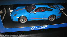 AUTOART 1.18 PORSCHE 911 997 GT3 RS 4.0 GLOSS BLUE AWESOME LOOKING MODEL  #78145